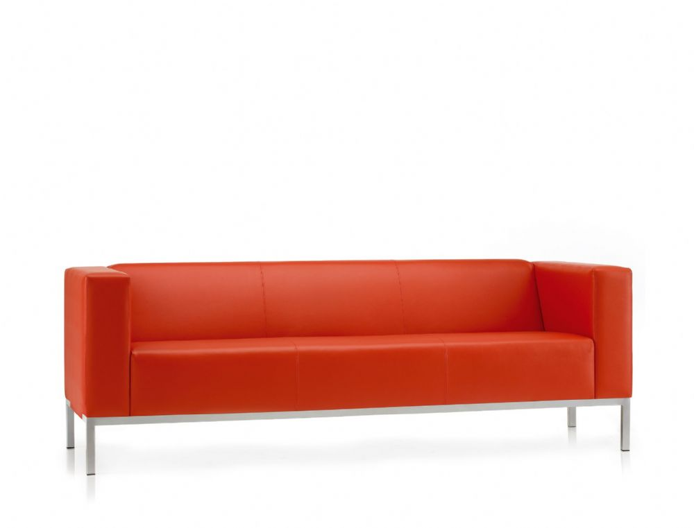 Pledge Box Visitor Soft Seating 3 Seater Sofa With 4 Leg Frame
